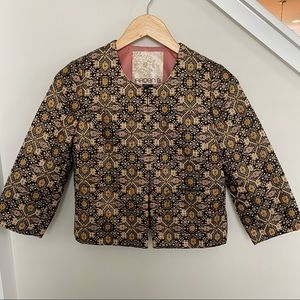 Arden B | Cropped Embroidered Jacket
